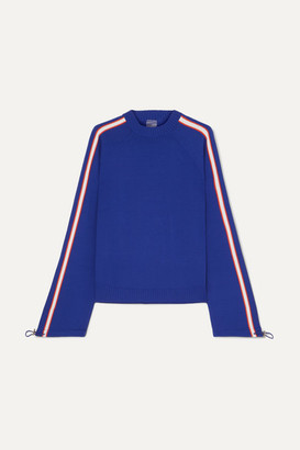 P.E Nation Salute Striped Knitted Sweater - Blue