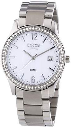 Mother of Pearl Boccia Women's Quartz Watch with Dial Analogue Display and Silver Titanium Bracelet B3235-02