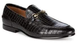 Saks Fifth Avenue Firenze Leather Croc Loafers