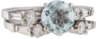 Ring 18K Topaz & Diamond Stacking