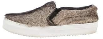 Celine Fur Slip-On Sneakers