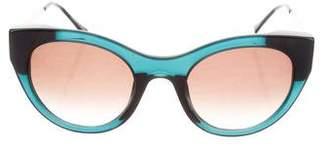 Illesteva Cat-Eye Tinted Sunglasses