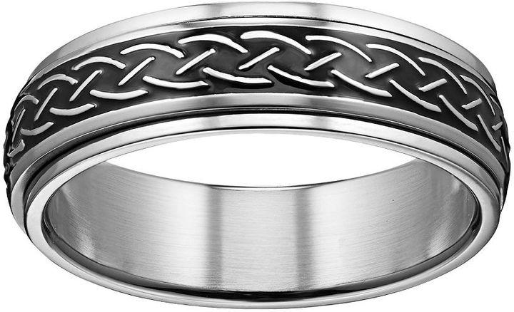 Celtic SheepskinStainless Steel Celtic Knot Spinner Band