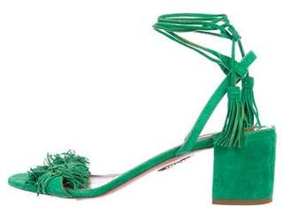 Aquazzura Wild Thing 50 Suede Sandals