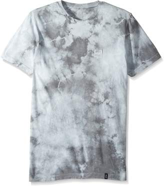 HUF Men's Box Logo Crystal Wash Tee, Grey, 2XL