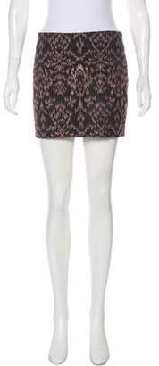 Alice + Olivia Jacquard Mini Skirt