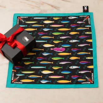Top Pocket Rocket Rebel Fish Silk Pocket Square
