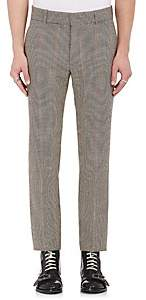 Alexander McQueen MEN'S HOUNDSTOOTH WOOL TWEED TROUSERS-BROWN SIZE 46 EU