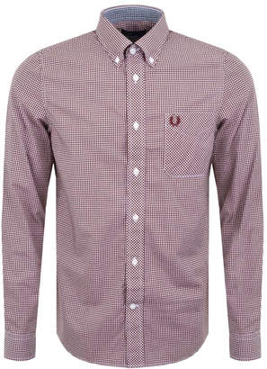 Fred Perry Classic Gingham Shirt Red