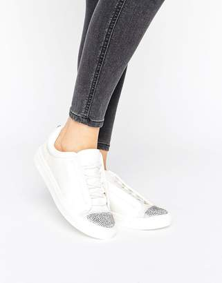 Lipsy Embellished Toe Sneakers $78 thestylecure.com