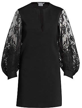 Givenchy Women's Lace Puff-Sleeve Shift Dress