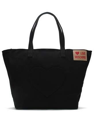 de296e1e573 Love Moschino Large Canvas Shopper Bag
