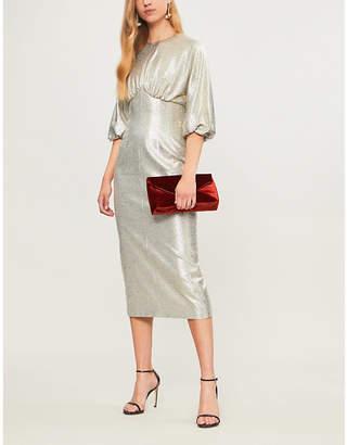Emilia Wickstead Elissa puff-sleeve metallic-knit dress