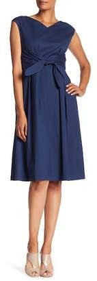 Lafayette 148 New York Ximena Cap Sleeve V-Neck Dress