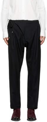TAKAHIROMIYASHITA TheSoloist. Black Crossover Pajama Trousers