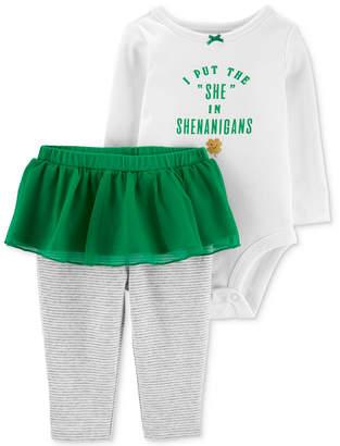 Carter's Baby Girls 2-Pc. Shamrock Graphic Cotton Bodysuit & Tutu Pants