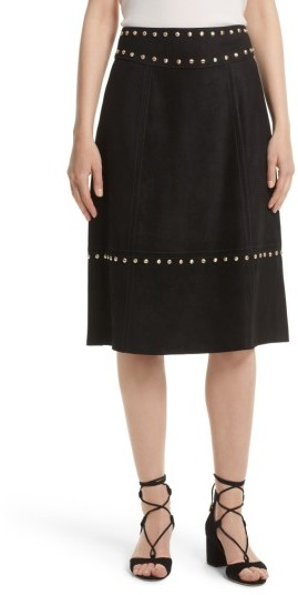 Women's Kate Spade New York Studded Suede Skirt