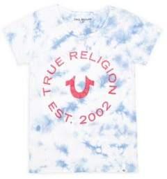 True Religion Little Girl's & Girl's Tie Dye Logo Tee
