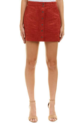 BCBGMAXAZRIA Aiden Suede Mini Skirt