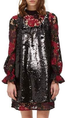 a956054b9ceb French Connection Cynthia Sequin & Lace Shift Dress