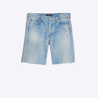 Balenciaga Stonewashed raw finishing denim short pants