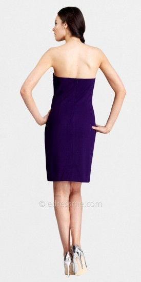 LM Collection Strapless Sheath Side Sequin Applique Chic Cocktail Dresses
