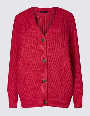 Marks and Spencer Cable Knit Longline Cardigan