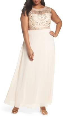 Decode 1.8 Sleeveless Beaded Gown
