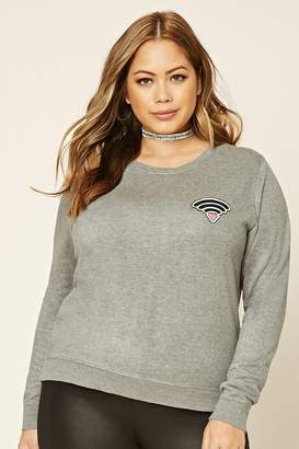 Forever 21 Plus Size Wi-Fi Sweatshirt