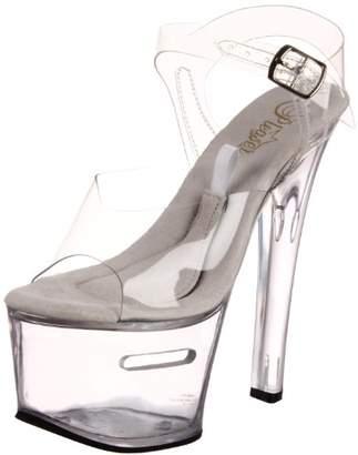 Pleaser USA Women's Tipjar-708-2/C/M Ankle-Strap Sandal