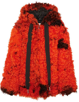Marques Almeida Marques' Almeida - Oversized Hooded Shearling Coat - Orange
