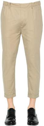 DSQUARED2 17cm Dan Elastic Fit Cotton Twill Pants