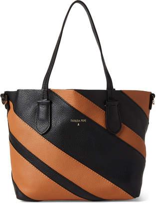 Patrizia Pepe Striped Leather Borsa Bag