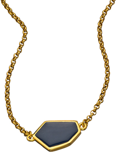 Janna Conner Designs Gold and Navy Aliza Necklace