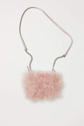 H&M Shoulder Bag with Faux Fur - Pink