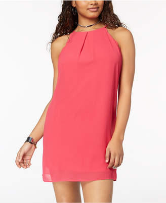 BCX Juniors' Scalloped Halter Dress
