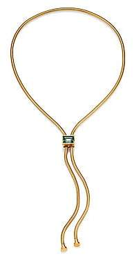 House of Lavande Women's Kemala Crystal Snake Chain Lariat Necklace