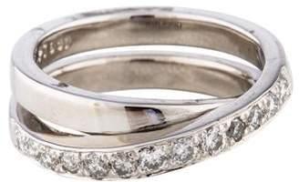 Ring Platinum Diamond Crossover Band