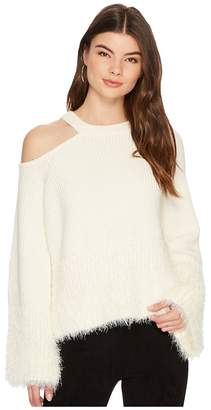 1 STATE 1.STATE Shoulder Cut Out Sweater with Eyelash Women's Sweater