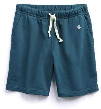 Todd Snyder + Champion The Warm Up Short in Petrol Blue
