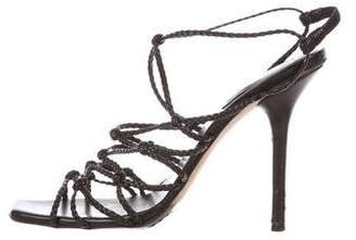 Gucci Leather Braided Sandals