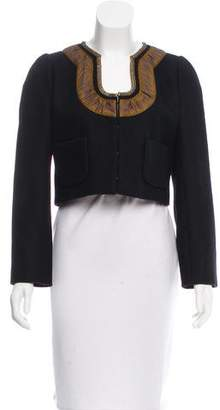 Dries Van Noten Wool Cropped Jacket w/ Tags