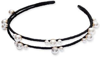 INC International Concepts I.N.C. Gold-Tone Imitation Pearl Fabric-Wrapped Headband, Created for Macy's