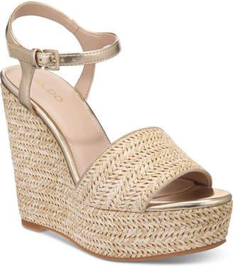 Aldo Brorka Wedge Sandals Women Shoes