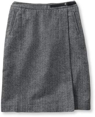 L.L. Bean L.L.Bean Women's Weekend Faux Wrap Skirt, Herringbone