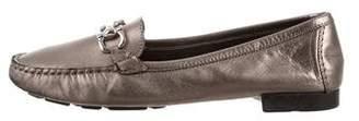 Salvatore Ferragamo Leather Round-Toe Loafers