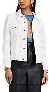 NSF Women's Distressed Denim Jacket - White
