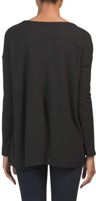 Made In Usa Long Sleeve V-neck Thermal Tunic