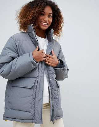 Weekday High Neck Padded Jacket with drawstring