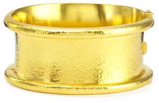 Elizabeth Locke Amulet 19k Gold Hinge Bangle